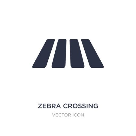 zebra crossing icon on white background. Simple element illustration from Alert concept. zebra crossing sign icon symbol design.
