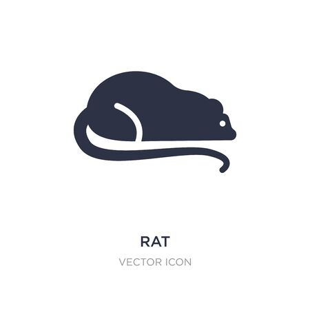 rat icon on white background. Simple element illustration from Animals concept. rat sign icon symbol design. Vector Illustration