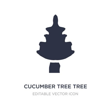 cucumber tree tree icon on white background. Simple element illustration from Nature concept. cucumber tree tree icon symbol design.