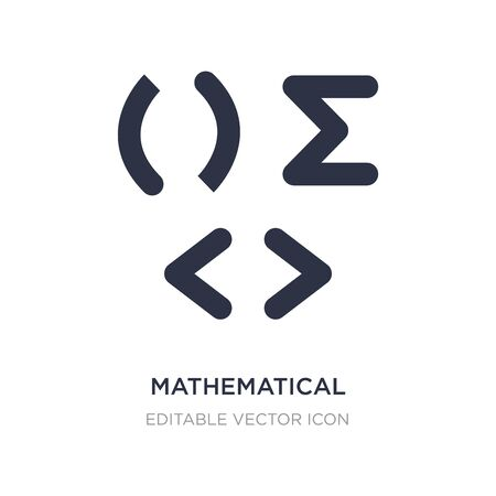 mathematical icon on white background. Simple element illustration from Signs concept. mathematical icon symbol design. 向量圖像