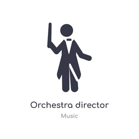 orchestra director outline icon. isolated line vector illustration from music collection. editable thin stroke orchestra director icon on white background