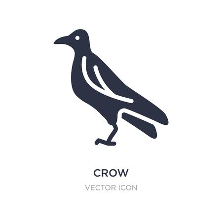 crow icon on white background. Simple element illustration from Animals concept. crow sign icon symbol design.