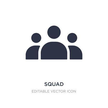 ikona drużyny na białym tle. Prosta ilustracja elementu z koncepcji narzędzi i naczyń. drużyna ikona symbol projekt.