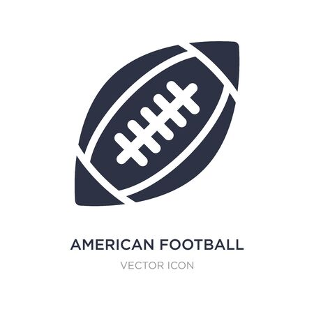 american football icon on white background. Simple element illustration from American football concept. american football sign icon symbol design.