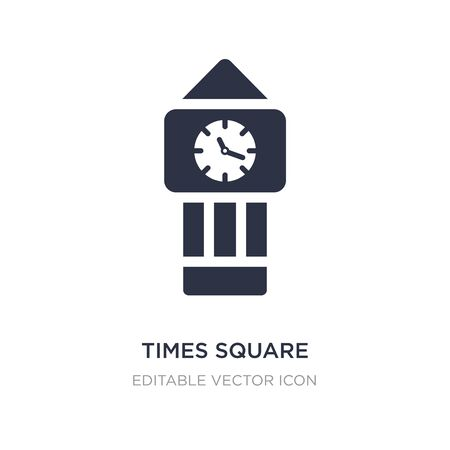 times square icon on white background. Simple element illustration from Tools and utensils concept. times square icon symbol design. Vettoriali