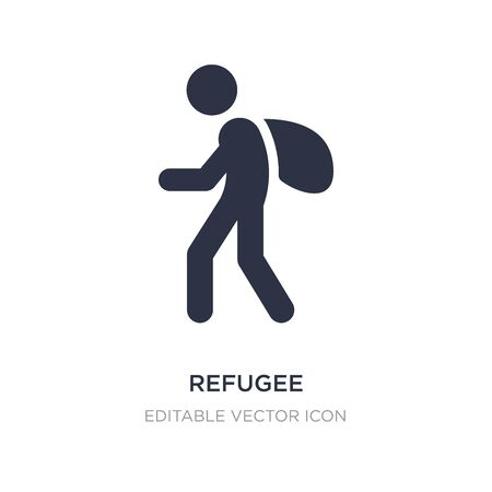 refugee icon on white background. Simple element illustration from Miscellaneous concept. refugee icon symbol design.