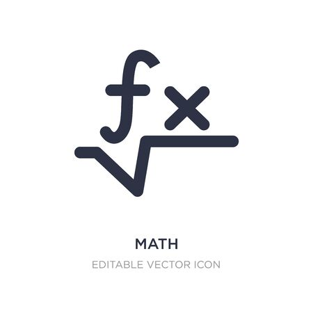 math icon on white background. Simple element illustration from Signs concept. math icon symbol design. 向量圖像