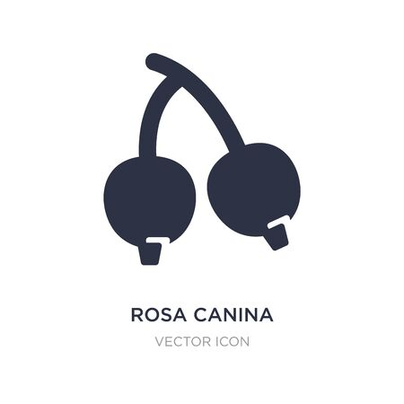 rosa canina icon on white background. Simple element illustration from Autumn concept. rosa canina sign icon symbol design.