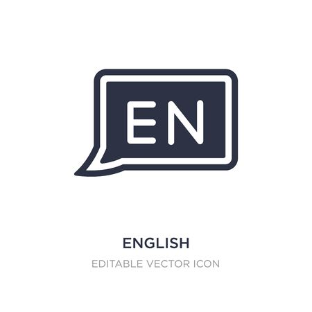 english icon on white background. Simple element illustration from Multimedia concept. english icon symbol design. Ilustração
