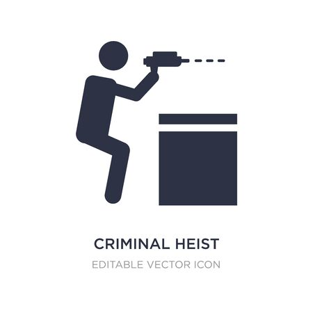 criminal heist icon on white background. Simple element illustration from People concept. criminal heist icon symbol design.