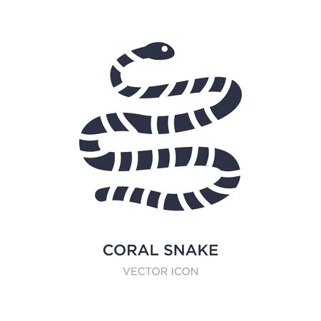 coral snake icon on white background. Simple element illustration from Animals concept. coral snake sign icon symbol design.