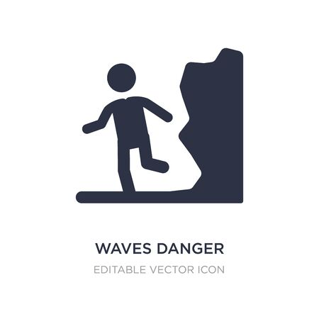 waves danger icon on white background. Simple element illustration from People concept. waves danger icon symbol design.