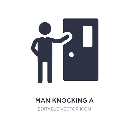 man knocking a door icon on white background. Simple element illustration from People concept. man knocking a door icon symbol design.