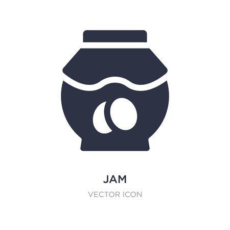 jam icon on white background. Simple element illustration from Autumn concept. jam sign icon symbol design.