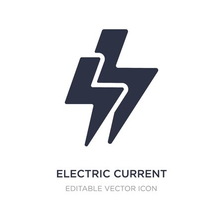 electric current icon on white background. Simple element illustration from Signs concept. electric current icon symbol design.