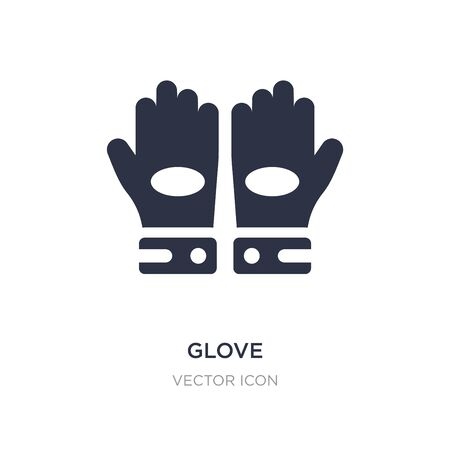 glove icon on white background. Simple element illustration from American football concept. glove sign icon symbol design. Vettoriali