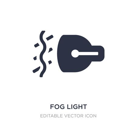 fog light icon on white background. Simple element illustration from Shapes concept. fog light icon symbol design. Illustration