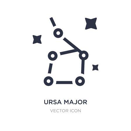 ursa major icon on white background. Simple element illustration from Astronomy concept. ursa major sign icon symbol design.