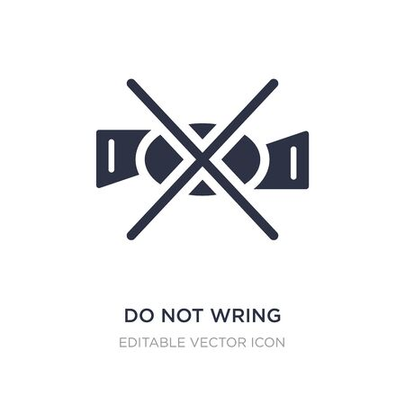 do not wring icon on white background. Simple element illustration from Signs concept. do not wring icon symbol design.