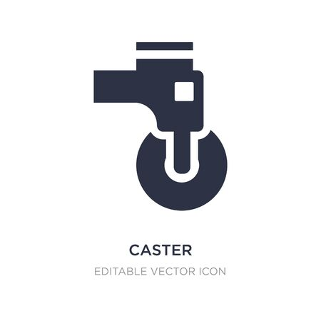 caster icon on white background. Simple element illustration from Transportation concept. caster icon symbol design.