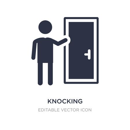 knocking icon on white background. Simple element illustration from People concept. knocking icon symbol design.