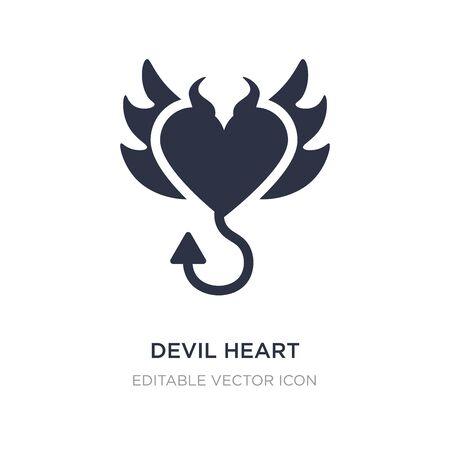 devil heart with wings icon on white background. Simple element illustration from Shapes concept. devil heart with wings icon symbol design.
