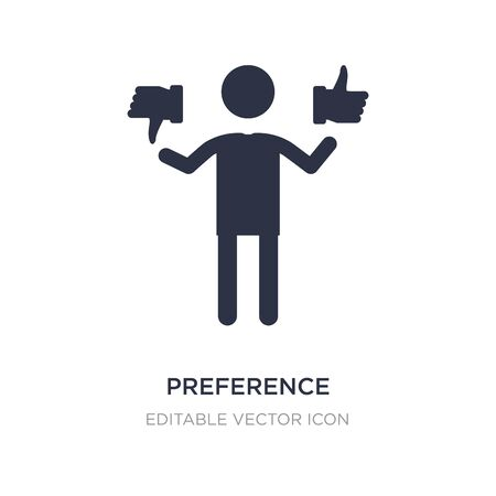 preference icon on white background. Simple element illustration from People concept. preference icon symbol design.