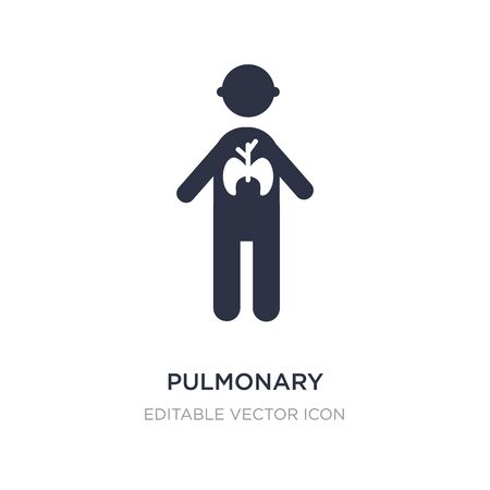 pulmonary icon on white background. Simple element illustration from People concept. pulmonary icon symbol design. Vecteurs