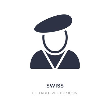 swiss icon on white background. Simple element illustration from Miscellaneous concept. swiss icon symbol design.
