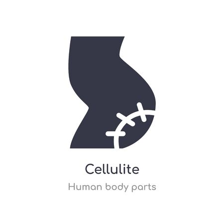 cellulite outline icon. isolated line vector illustration from human body parts collection. editable thin stroke cellulite icon on white background