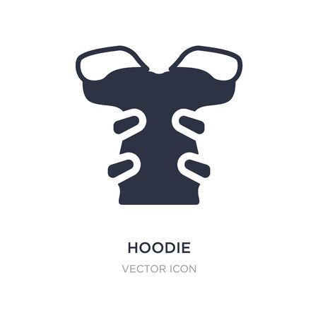 hoodie icon on white background. Simple element illustration from American football concept. hoodie sign icon symbol design. Illustration
