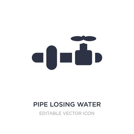 pipe losing water icon on white background. Simple element illustration from Tools and utensils concept. pipe losing water icon symbol design.