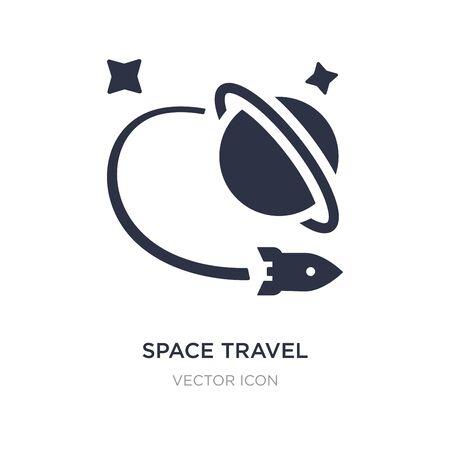 icône de voyage spatial sur fond blanc. Illustration d'élément simple du concept d'astronomie. conception de symbole d'icône de signe de voyage spatial.