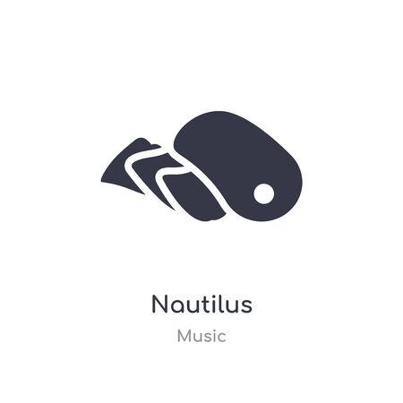nautilus outline icon. isolated line vector illustration from music collection. editable thin stroke nautilus icon on white background
