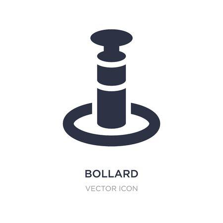 bollard icon on white background. Simple element illustration from Alert concept. bollard sign icon symbol design.