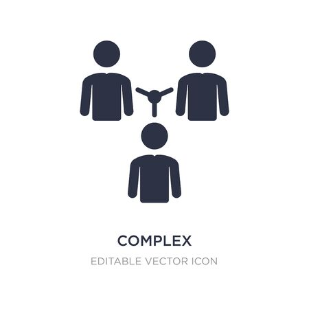 complex icon on white background. Simple element illustration from People concept. complex icon symbol design.