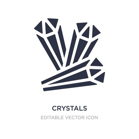 crystals icon on white background. Simple element illustration from Halloween concept. crystals icon symbol design.