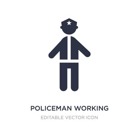 policeman working icon on white background. Simple element illustration from People concept. policeman working icon symbol design.