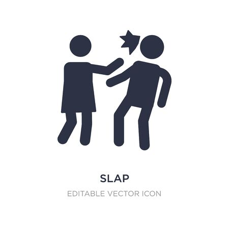 slap icon on white background. Simple element illustration from People concept. slap icon symbol design.