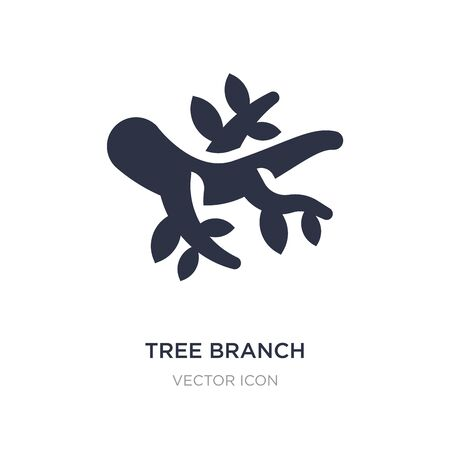 tree branch icon on white background. Simple element illustration from Autumn concept. tree branch sign icon symbol design. Vector Illustration