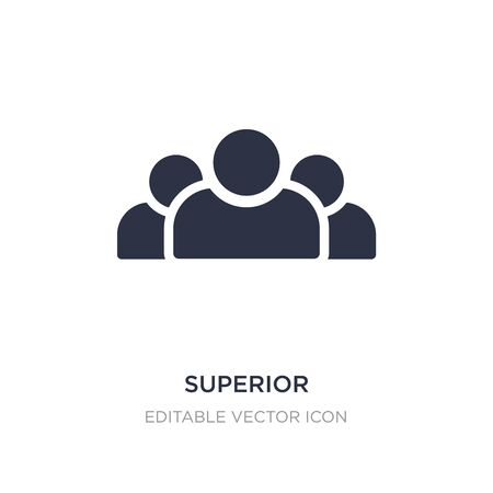 superior icon on white background. Simple element illustration from Signs concept. superior icon symbol design.