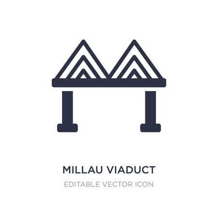millau viaduct icon on white background. Simple element illustration from Monuments concept. millau viaduct icon symbol design.
