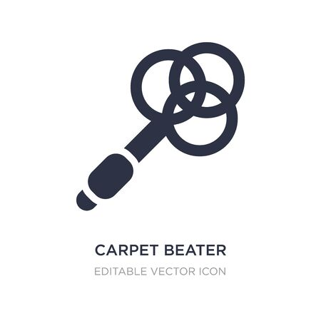 carpet beater icon on white background. Simple element illustration from Miscellaneous concept. carpet beater icon symbol design.