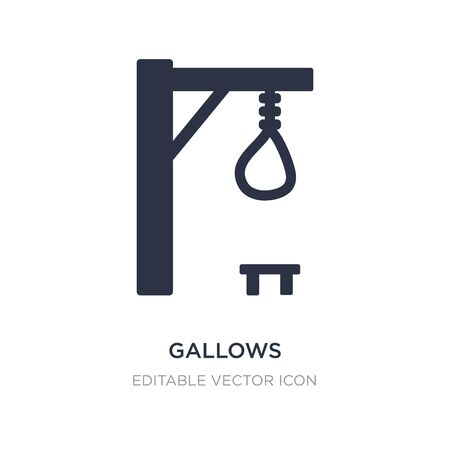 gallows icon on white background. Simple element illustration from Halloween concept. gallows icon symbol design.