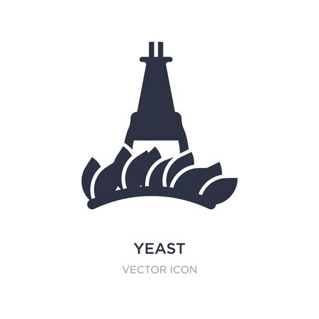 yeast icon on white background. Simple element illustration from Alcohol concept. yeast sign icon symbol design. Çizim