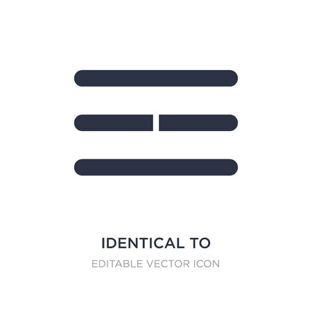 identical to icon on white background. Simple element illustration from Signs concept. identical to icon symbol design.