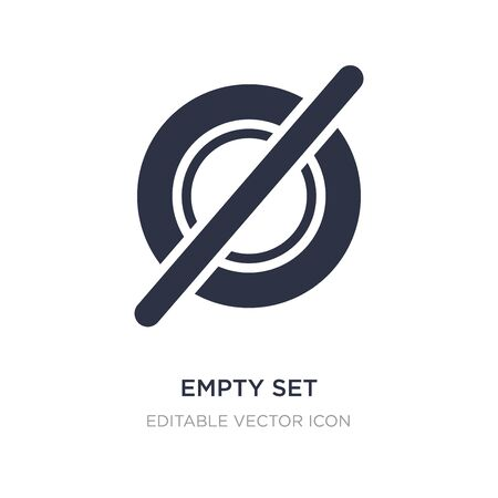 empty set icon on white background. Simple element illustration from Signs concept. empty set icon symbol design. Stock Illustratie