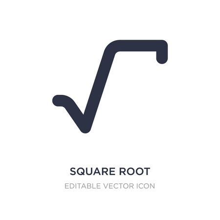 square root icon on white background. Simple element illustration from Signs concept. square root icon symbol design.