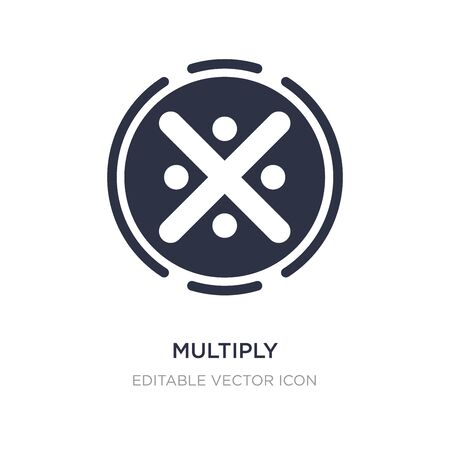 multiply icon on white background. Simple element illustration from Signs concept. multiply icon symbol design.
