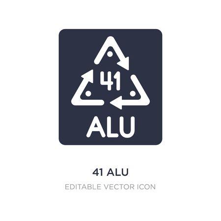 41 alu icon on white background. Simple element illustration from UI concept. 41 alu icon symbol design.